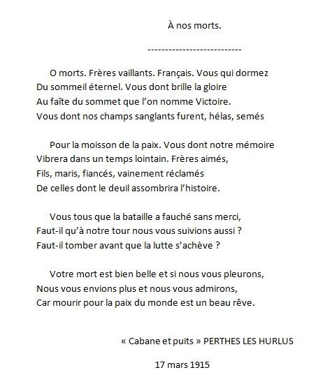 poeme guerre 14 18