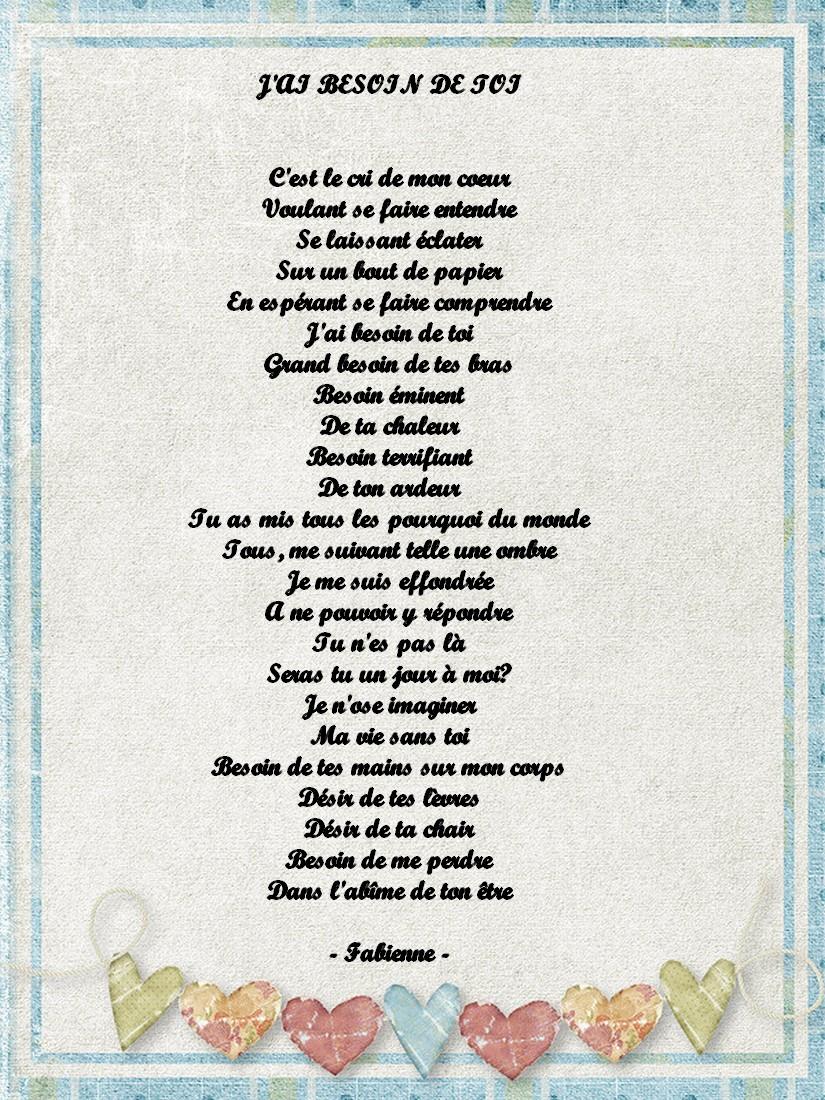 poeme j'ai besoin de toi