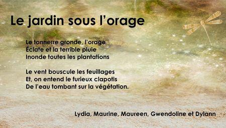 poeme jardin