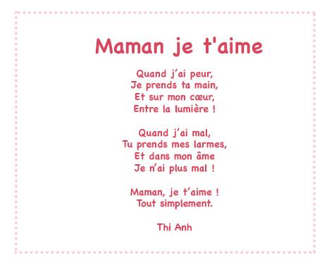 Proverbe Damour Pour Sa Maman Texte Maman Je Taime