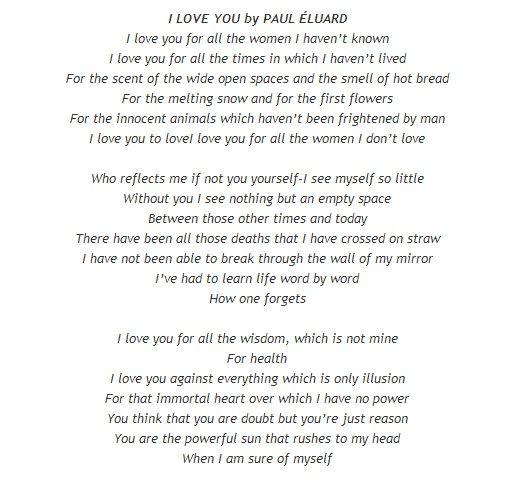 poeme je t'aime paul eluard