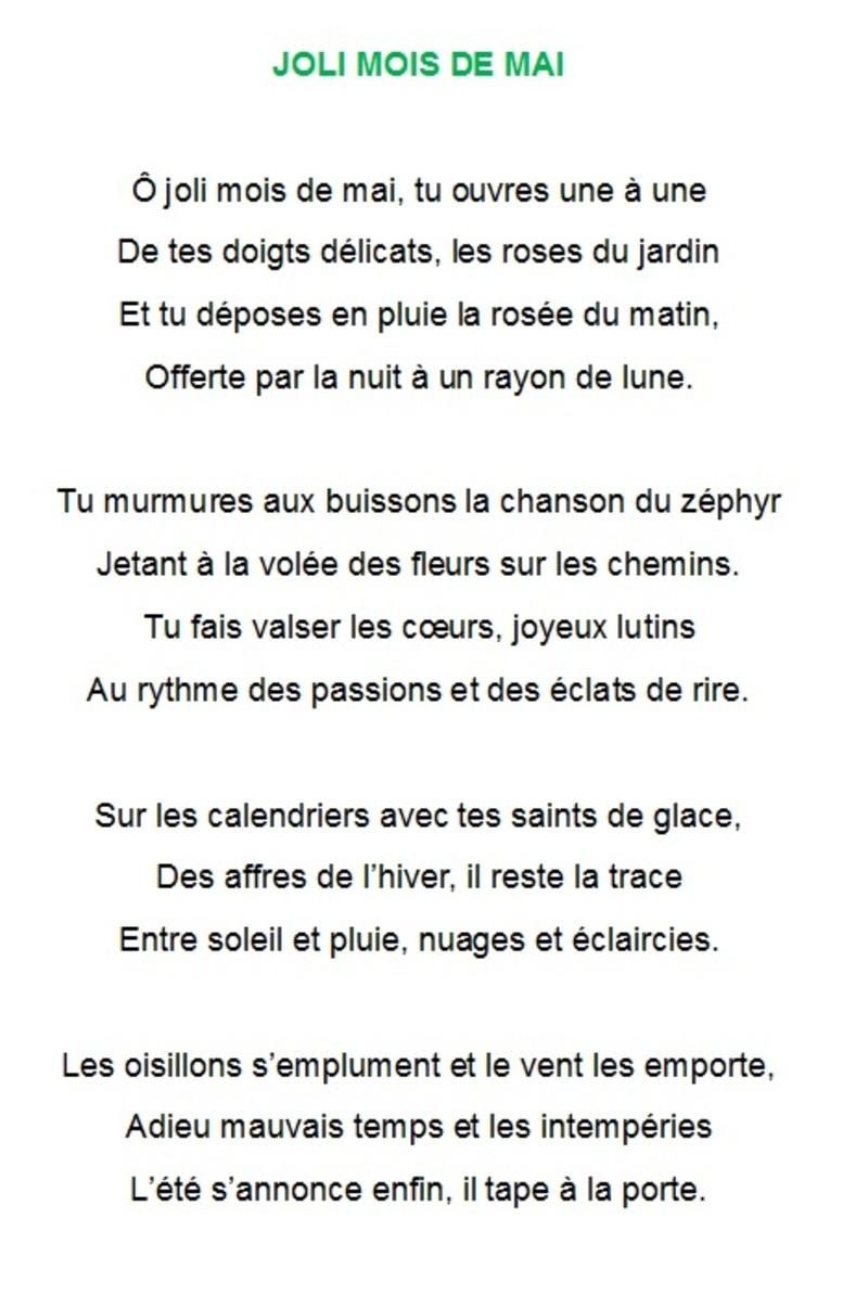 poeme joli mois de mai