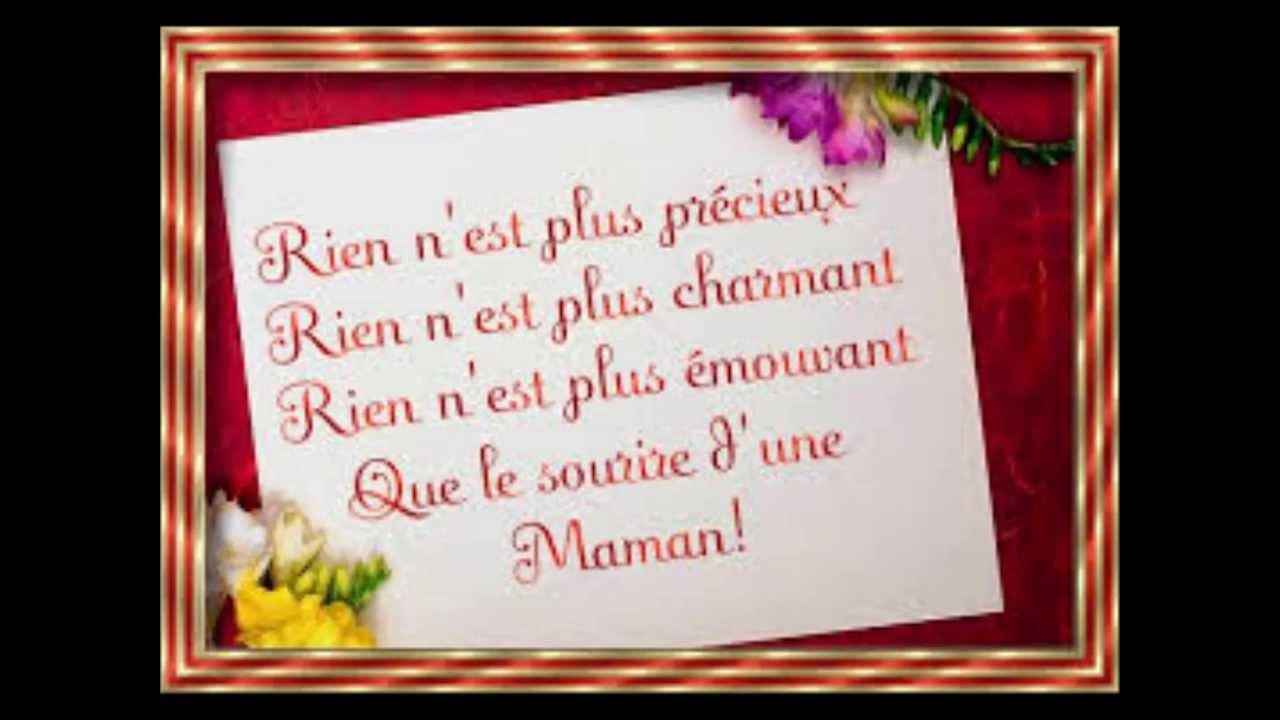 Poeme Joyeux Anniversaire Maman