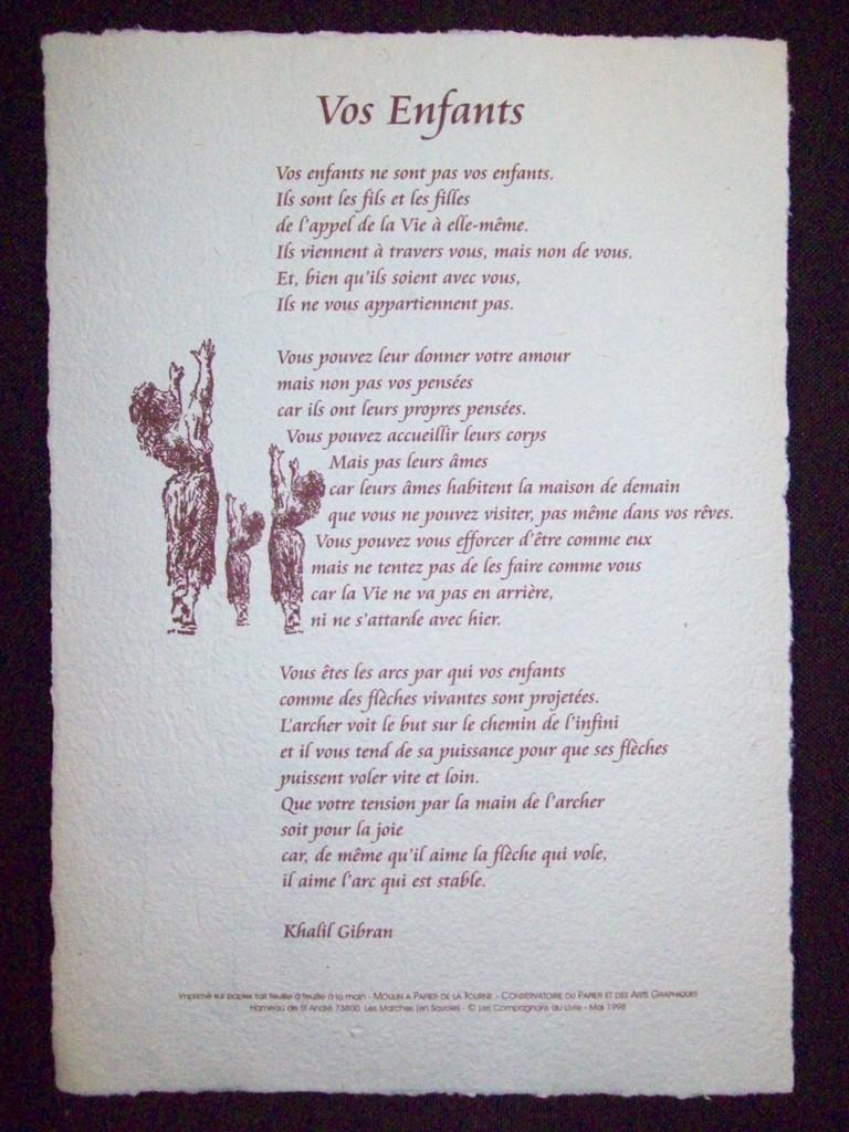 poeme khalil gibran mariage