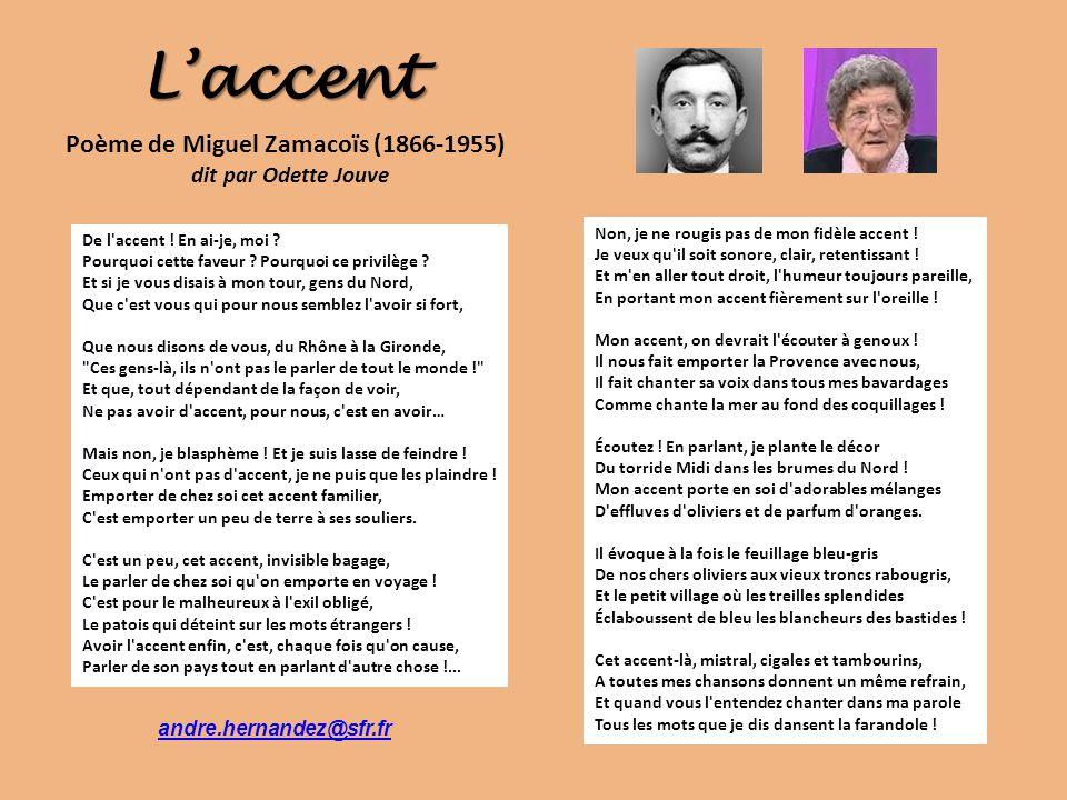poeme l'accent
