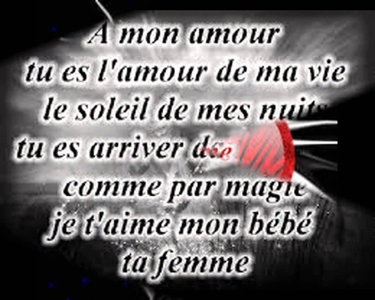 poeme l'amour de ma vie