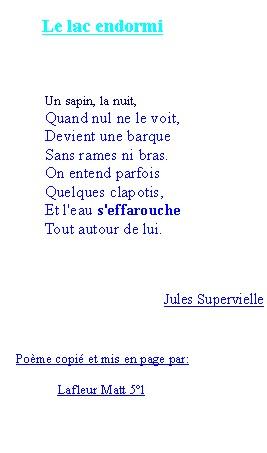 poeme le lac