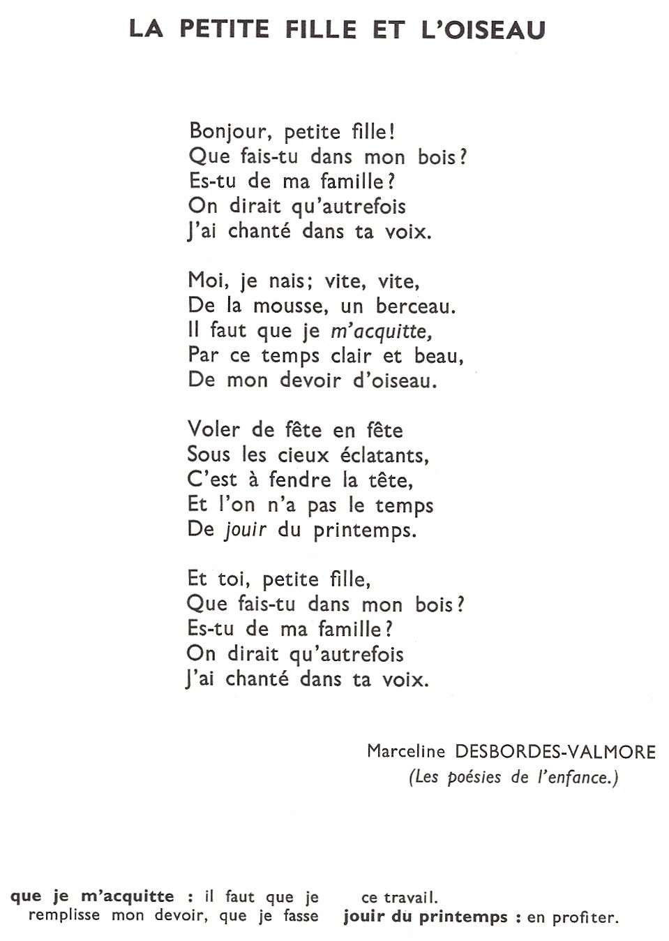poeme m desbordes valmore