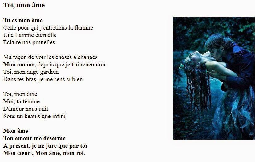 poeme mon ame soeur