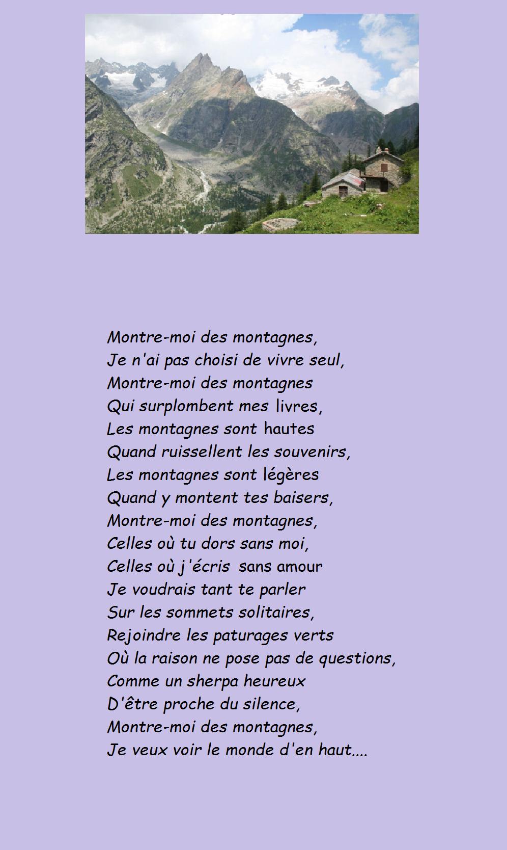 poeme montagne