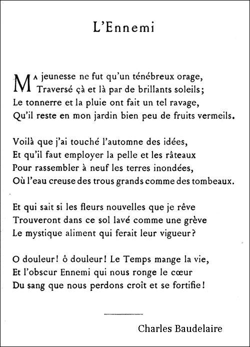 poeme naissance baudelaire