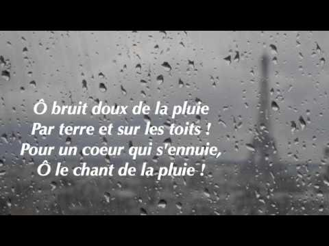 poeme o bruit doux de la pluie