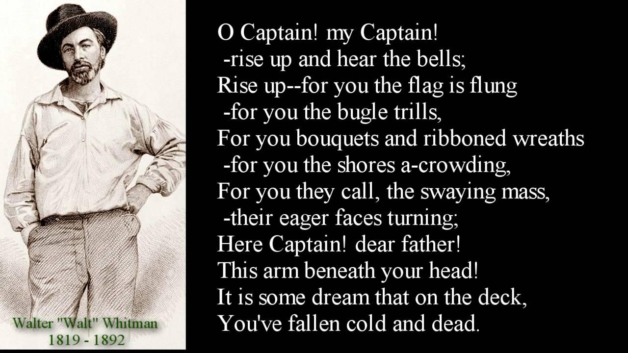 poeme o captain my captain