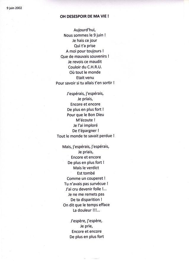 poeme o desespoir