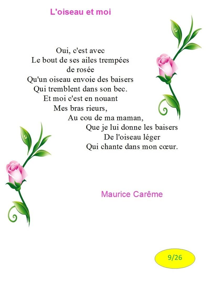 poeme oiseau