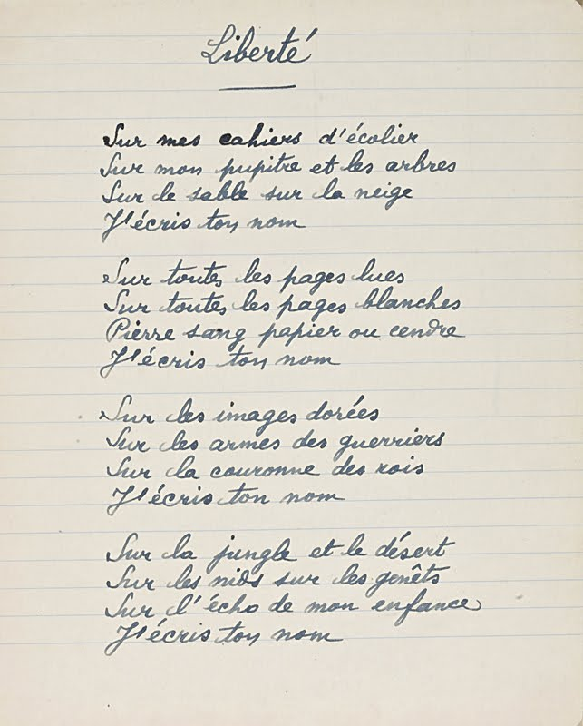 poeme paul eluard