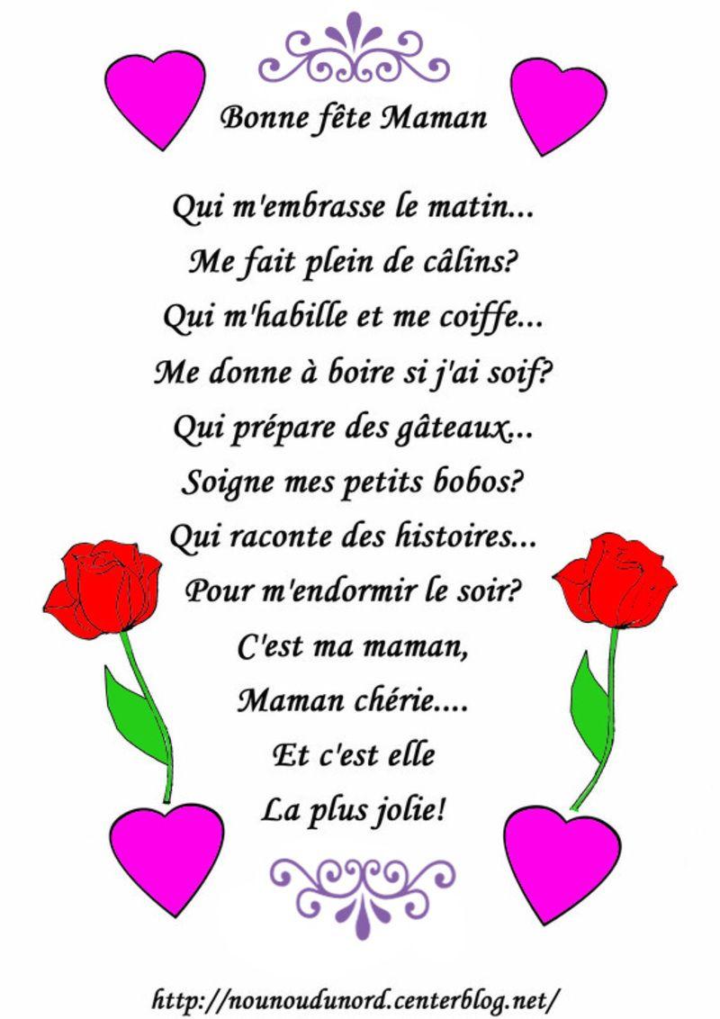 poeme pour la fete des mere