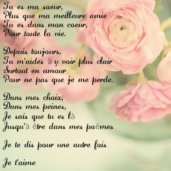 poeme pour ma soeur