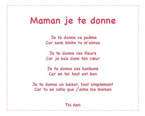 poeme pour maman