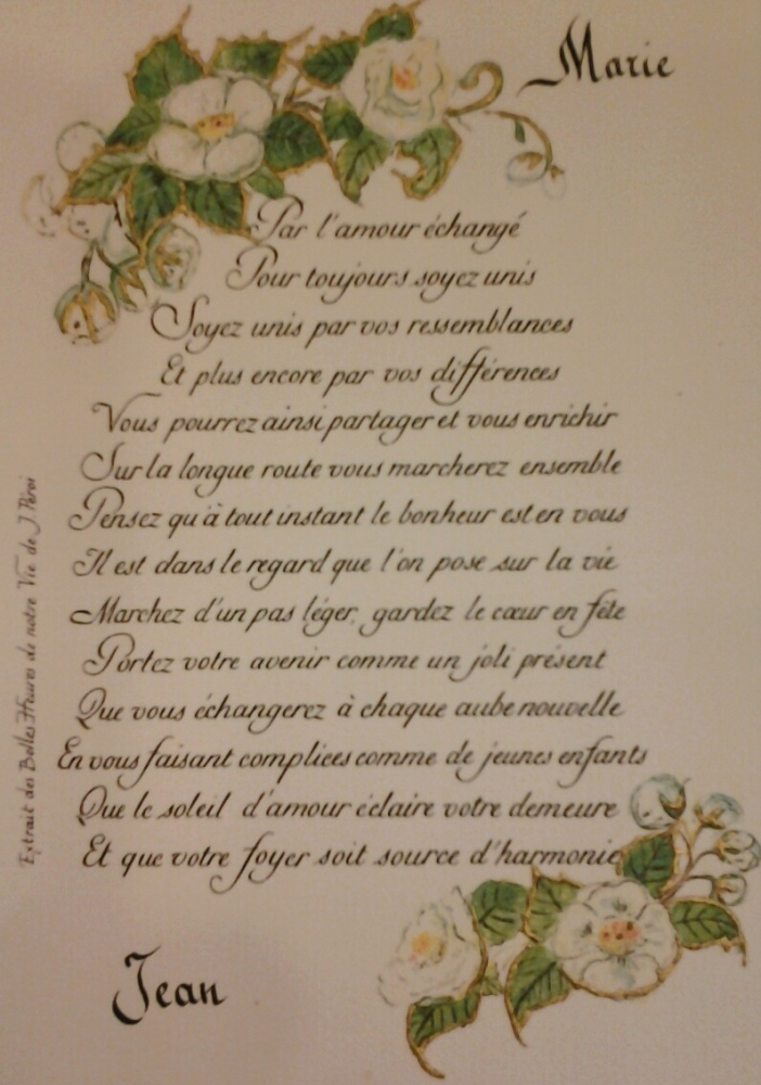 poeme pour mariage