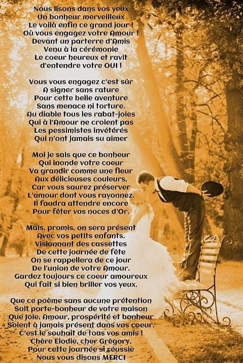 Poeme Anniversaire De Mariage