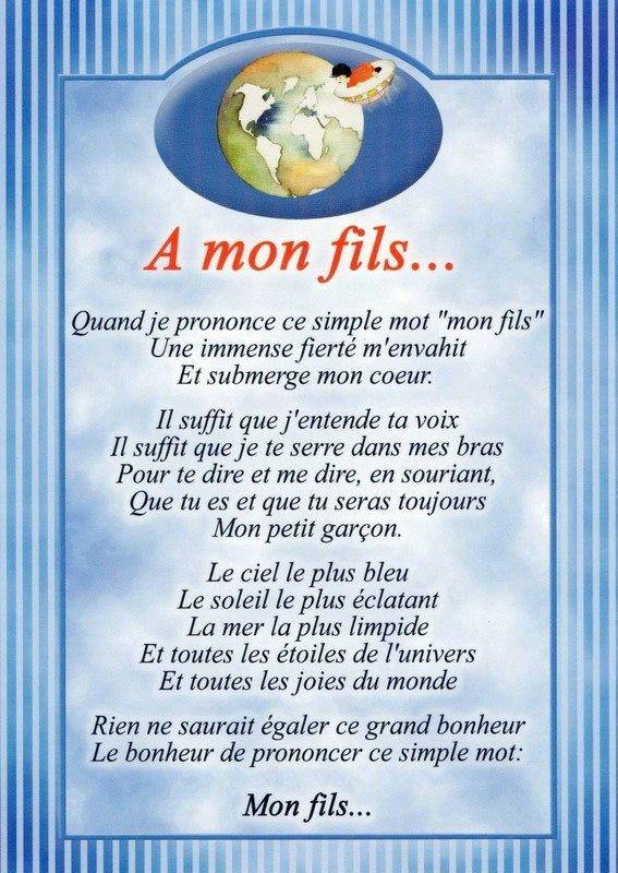 poeme pour mon fils