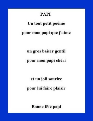 poeme pour papy