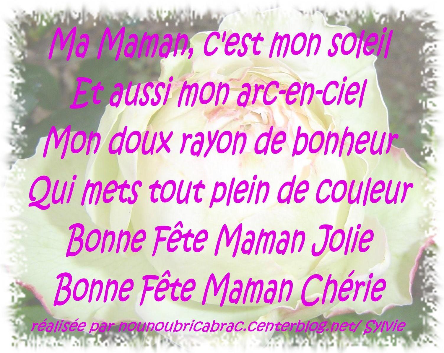 poeme pour sa maman