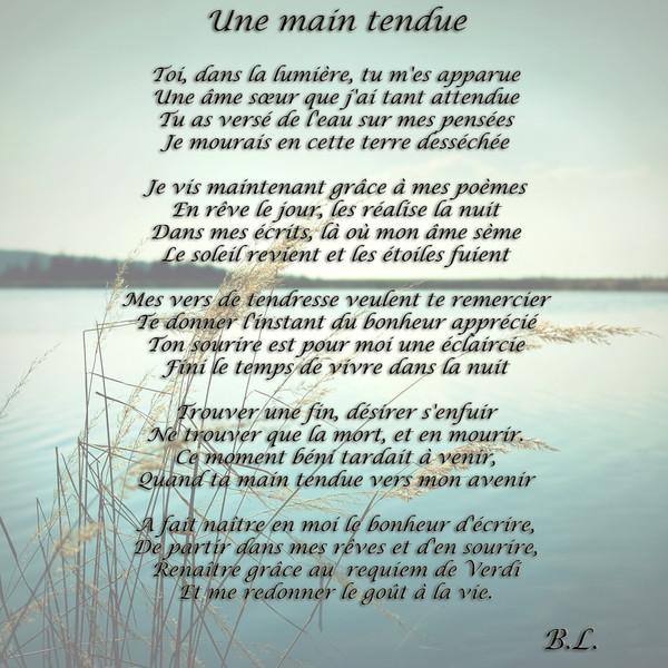 poeme remerciement