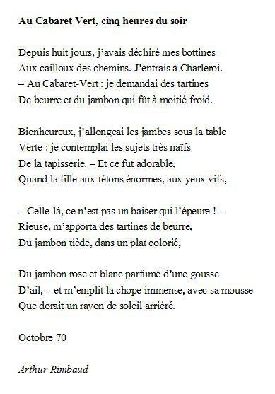 poeme rimbaud