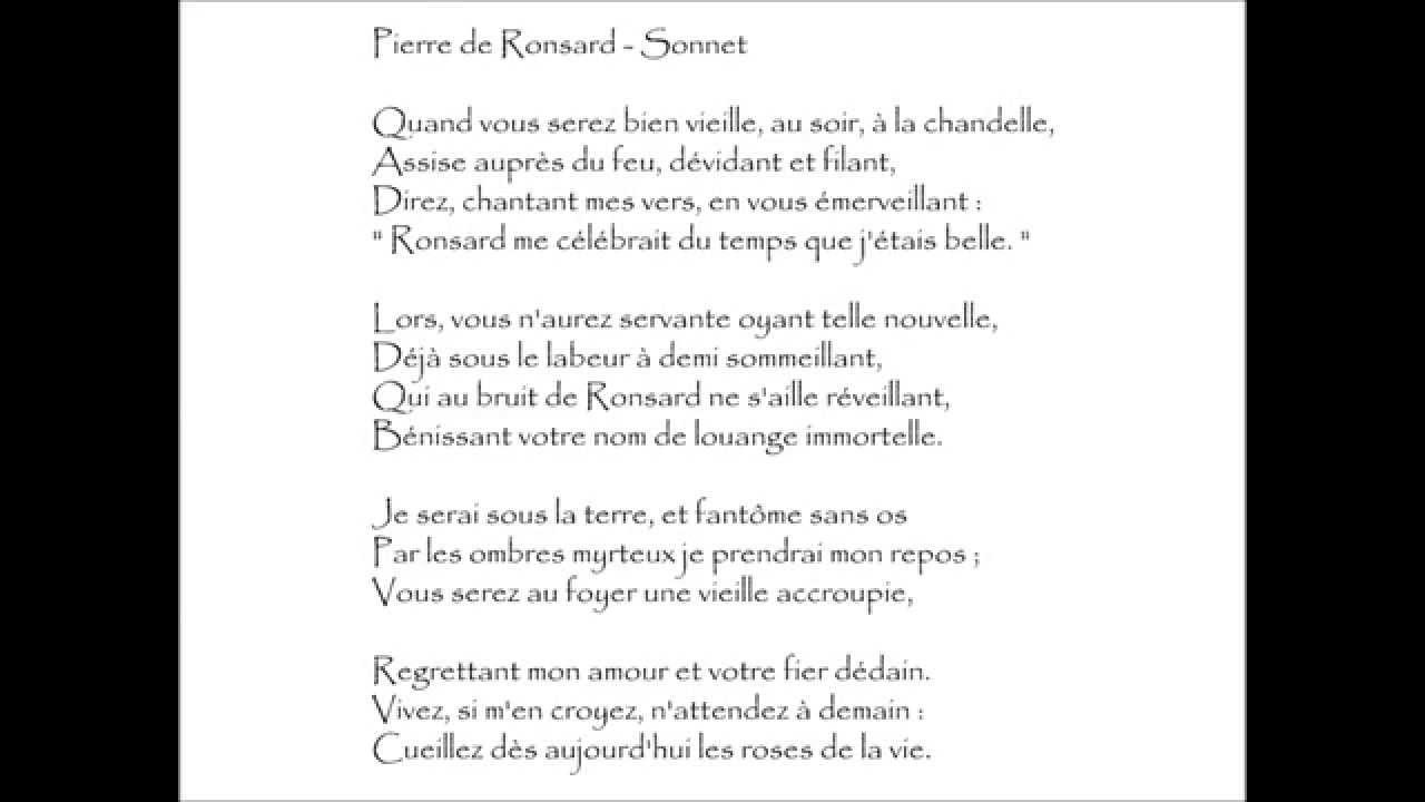 poeme ronsard