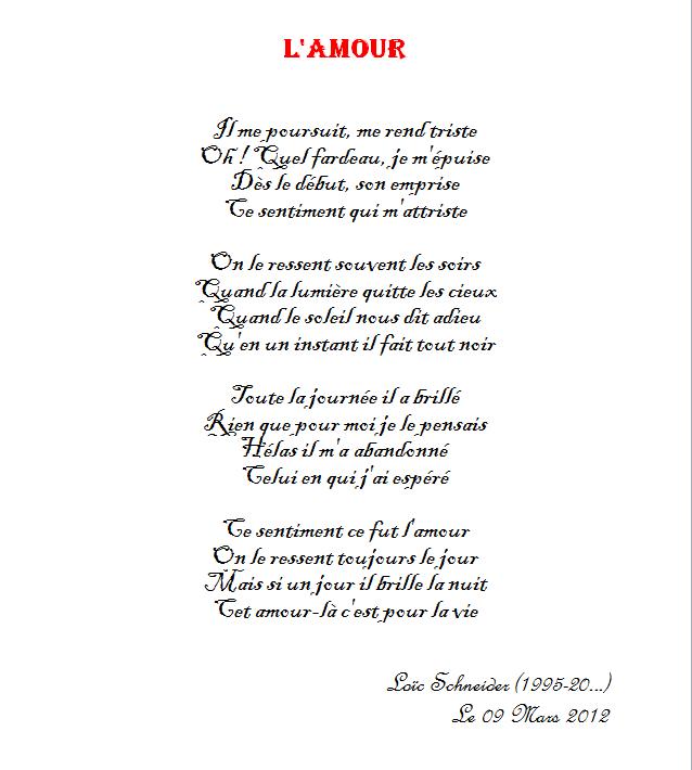 poeme sur l'amour