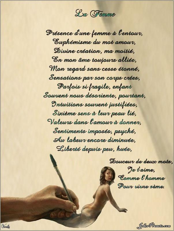 poeme sur la femme