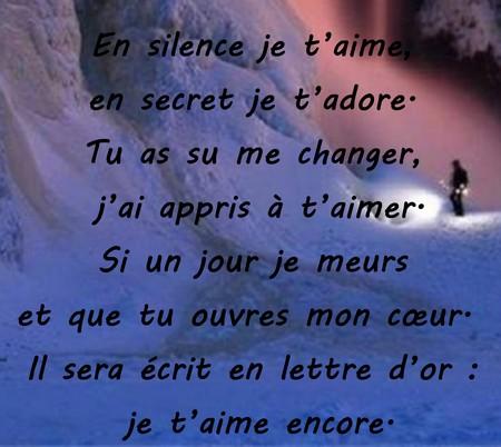 poeme t'aimer en secret