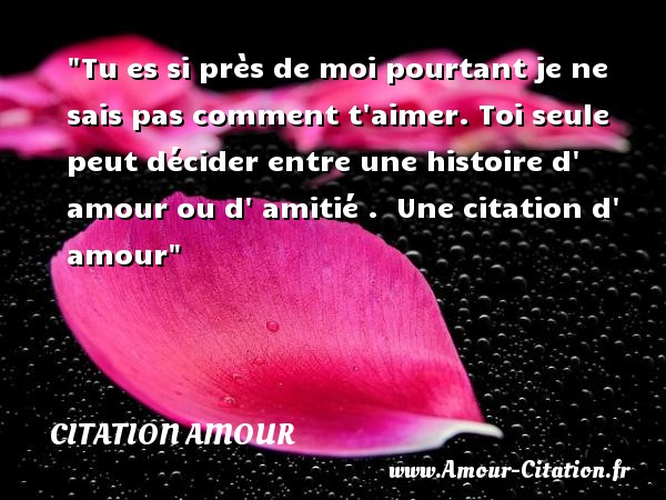 T Es Un Amour Citation Infos Et Ressources