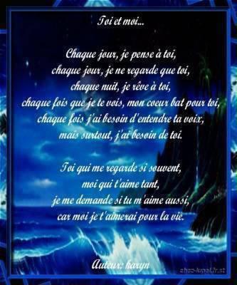 poeme touchant