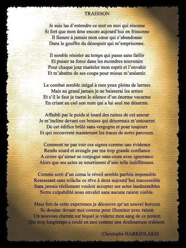 poeme trahison
