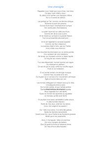 poeme une charogne