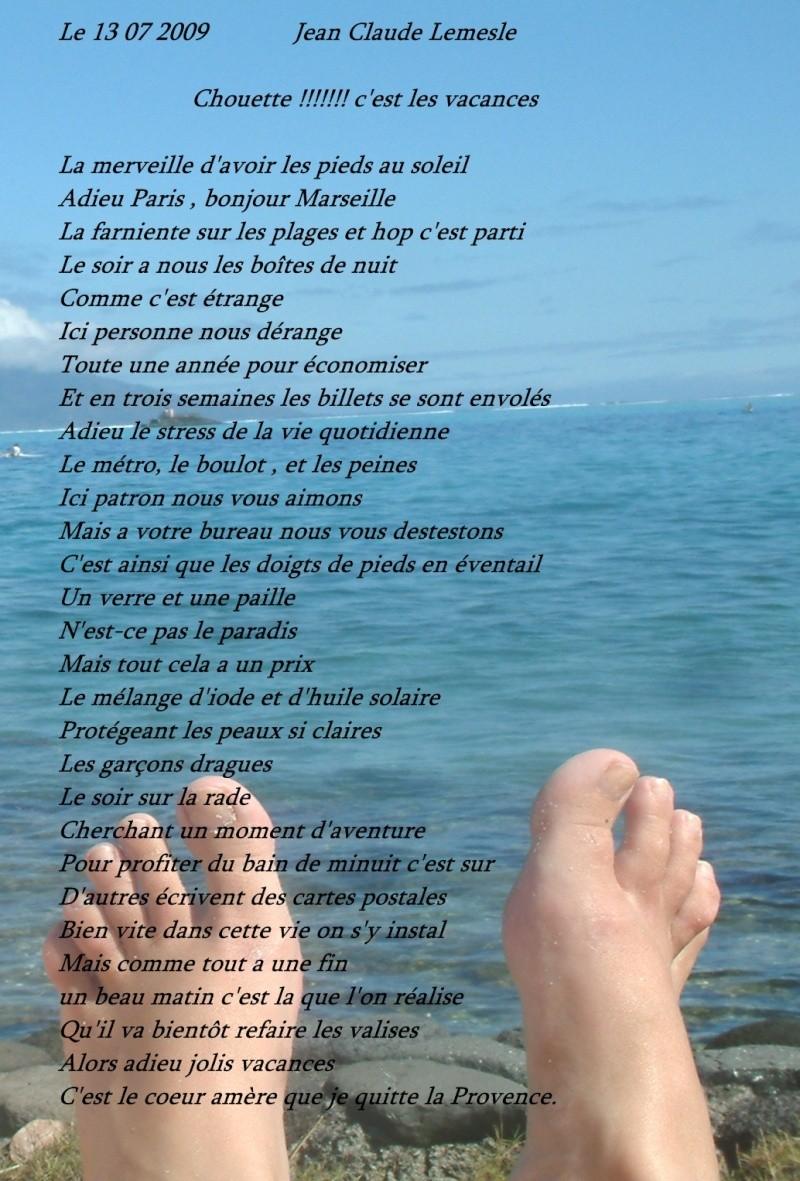 poeme vacances