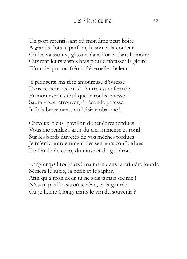Dissertation sur la poesie de baudelaire