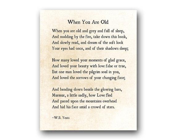 poeme yeats