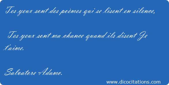 poeme yeux