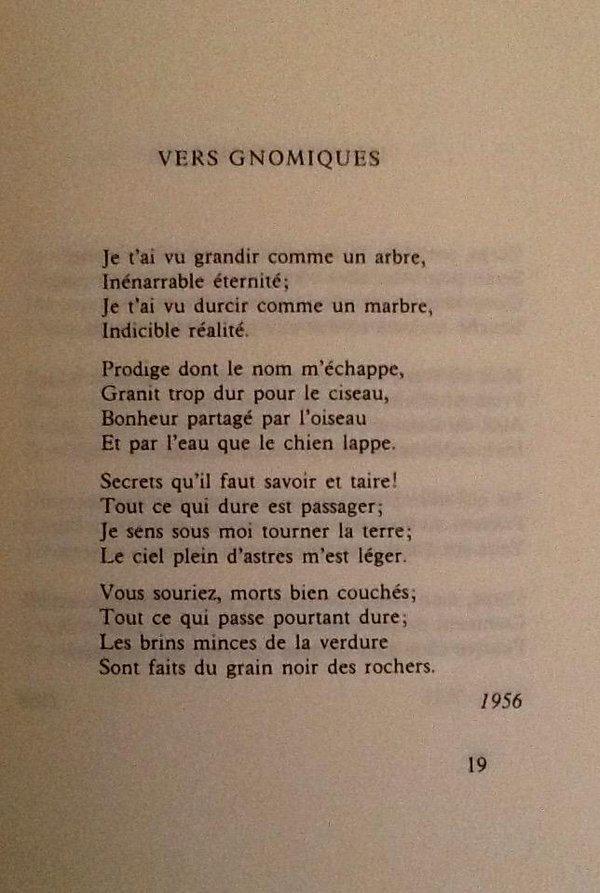 poeme yourcenar