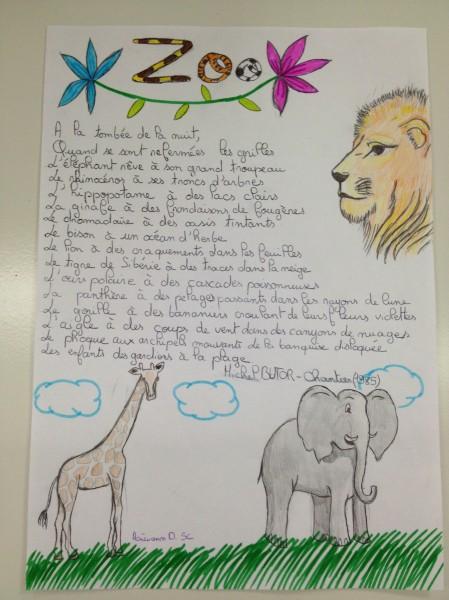 poeme zoo