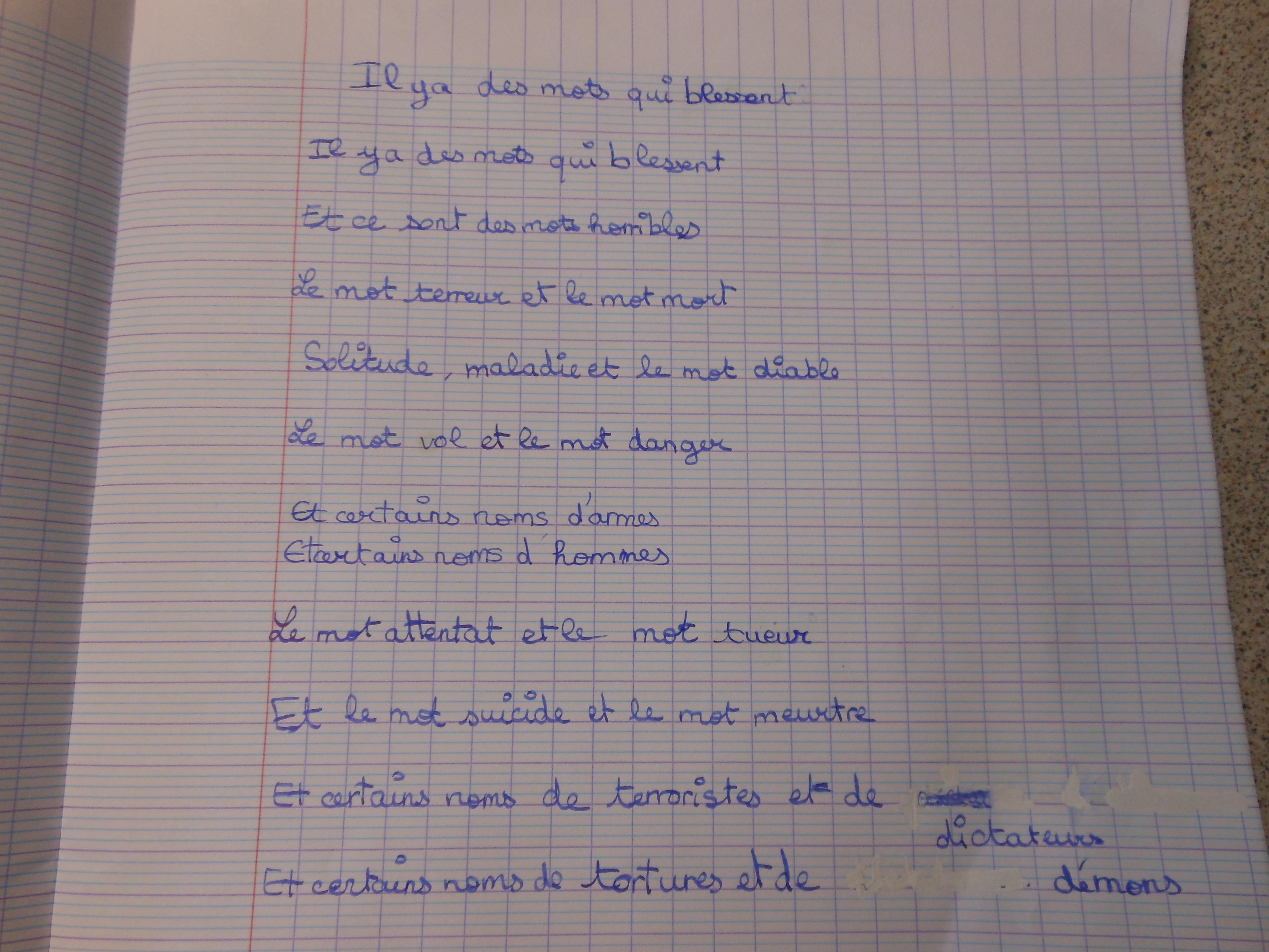 poesie 2 et 2 font 4
