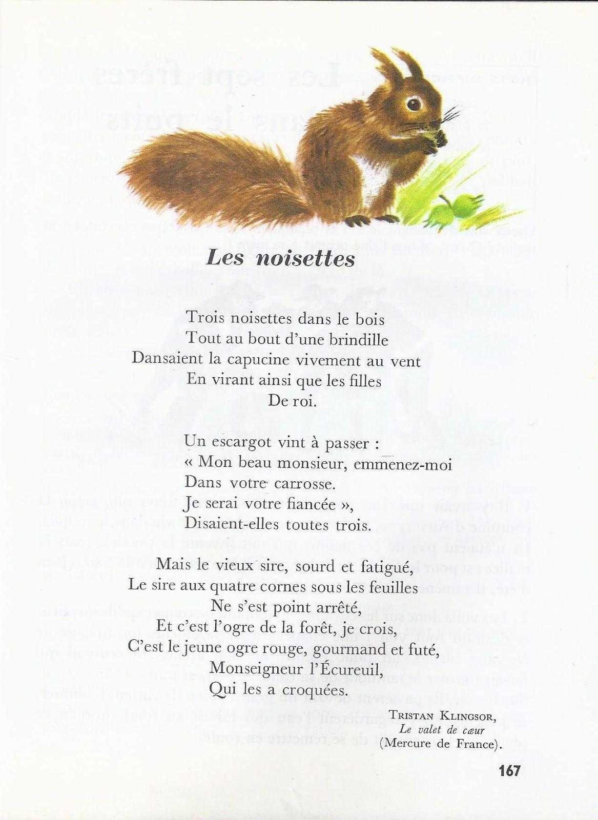 poesie 3 noisettes