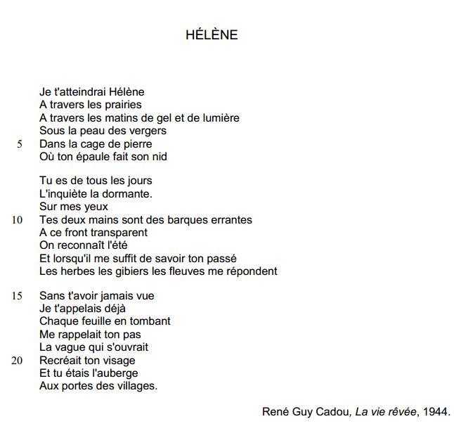poesie 3eme brevet