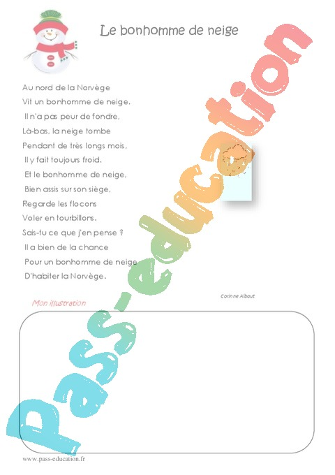 poesie 4eme primaire