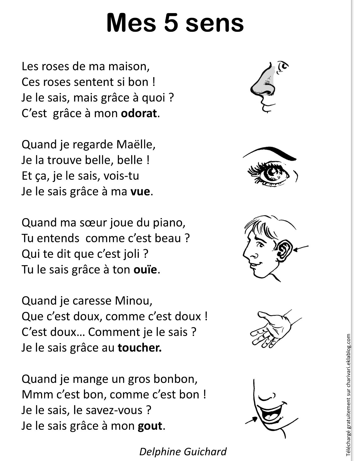 poesie 5 sens