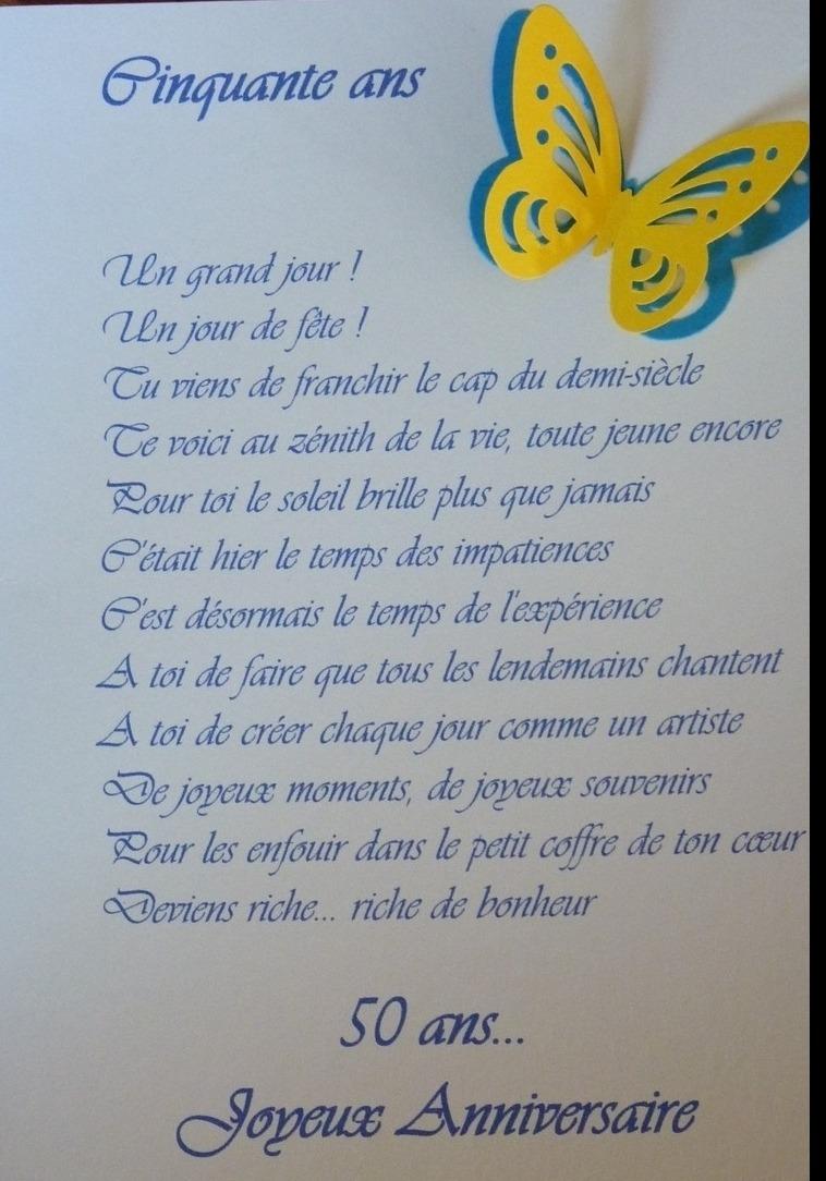 poesie 50 ans anniversaire